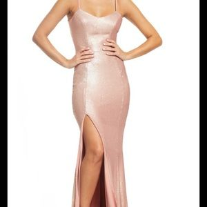 NEW Soft pink sequin gown